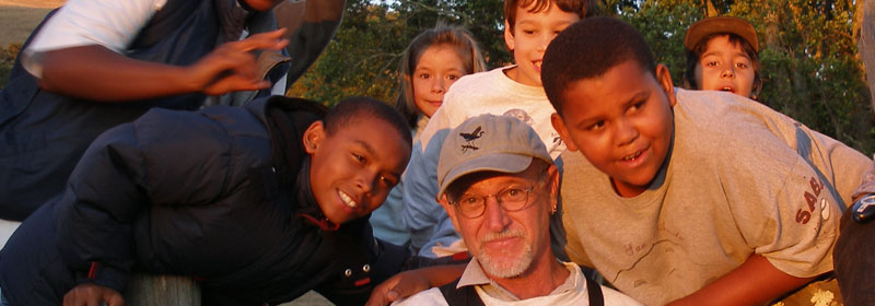 Naturalist David Herlocker and children