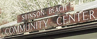 Stinson Beach Community Center sign