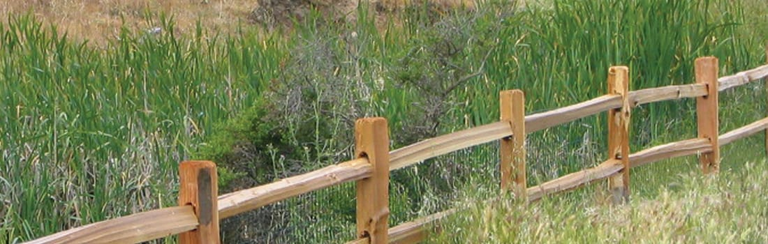 Fence line along trail in Indian Valley