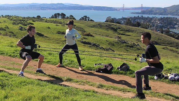 Tiburon Uplands people exercising