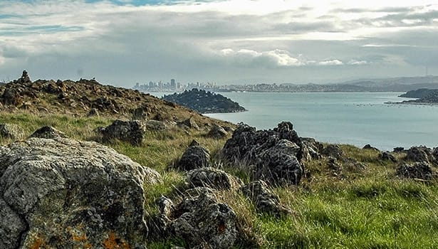 Rock outcroppings overlooking the Bay
