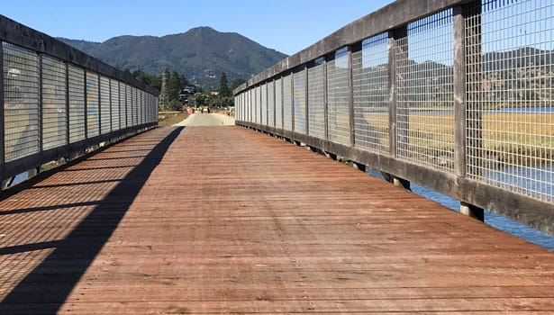 New pathway bridge deck