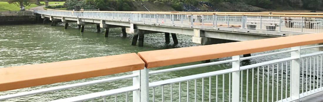 New steel railings on Paradise Beach pier