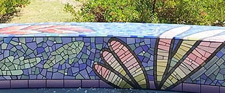 Detail of the roundabout mosaic