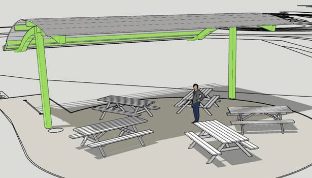Shade structure design illustration
