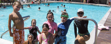 Kids at McNears swimming pool